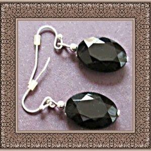 Dangle Black Bead Earrings Simple & Stylish